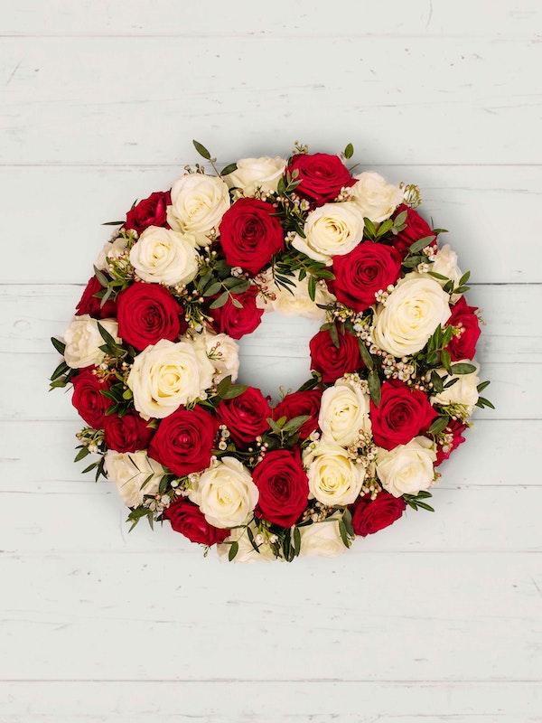 Roses Wreath Aerial 2